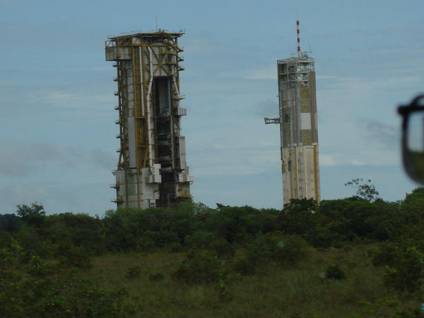 Launching Towers at Arianespace Facility