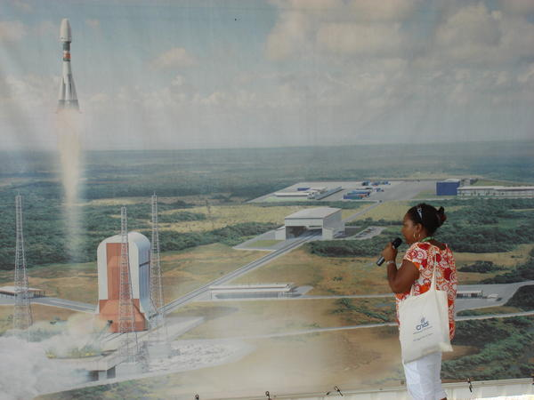 Mural of Arianespace Facility, French Guiana
