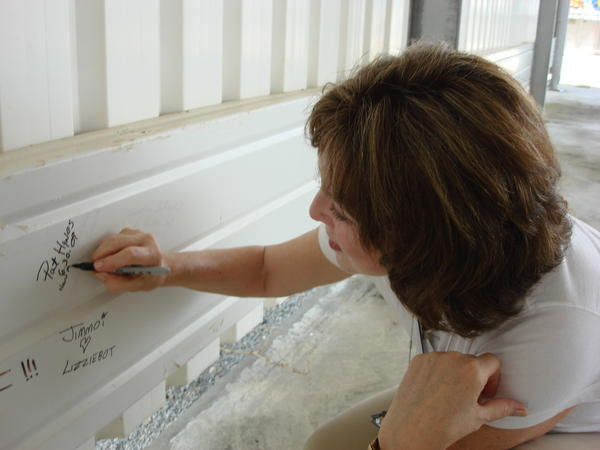 Signing my name at Arianespace