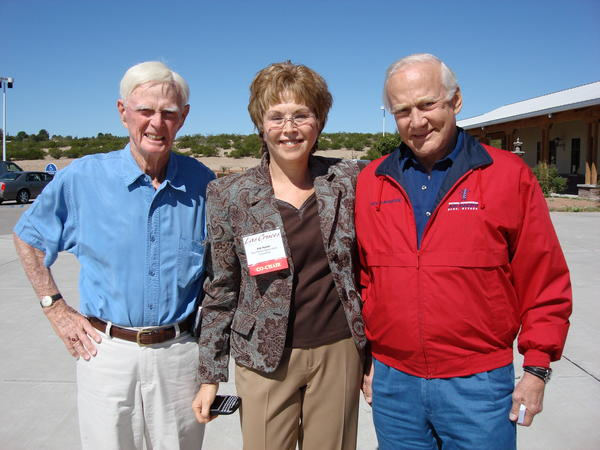 Dad, Pat and Buzz Aldrin